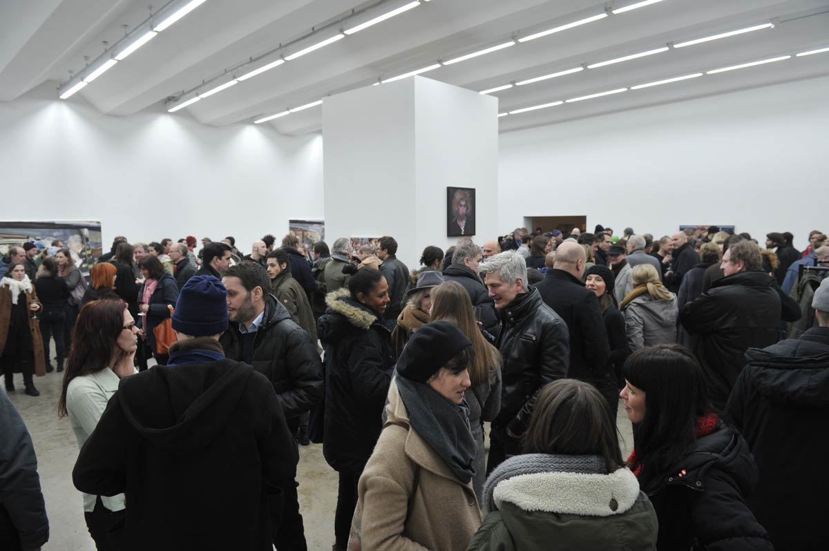Herbert Volkmann, Exhibition Opening, Society Coma, 2014
