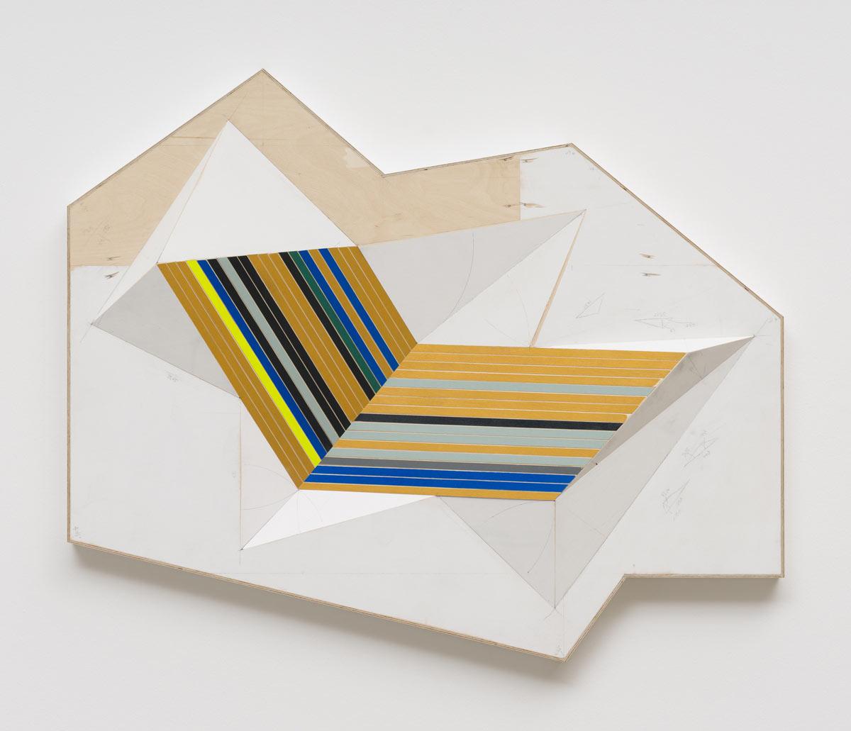 Jay Gard, Fuji, 2015, Sperrholz, Schrauben, Leim, Acryl, 93 × 127 × 12 cm, Sexauer Gallery