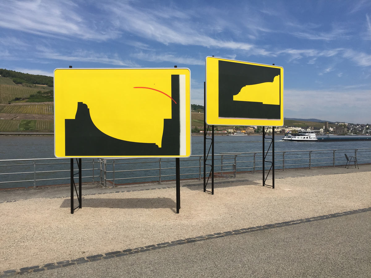 Jay Gard, Touristic Hint, SEXAUER Gallery, Skulpturen Triennale Bingen, 2017